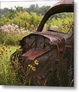 Lonely Car On The Prairie Metal Print