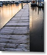 Lonely Dock Metal Print