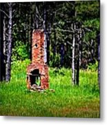 Lonely Fireplace Metal Print