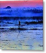Lonely Fisher Metal Print