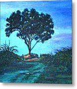 Lonely Giant Tree Metal Print
