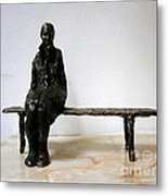 Lonely Girl Metal Print