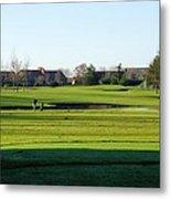 Lonely Golfer Metal Print
