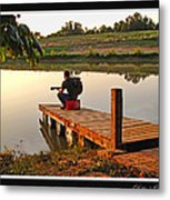 Lonely Guitarist Metal Print
