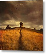 Lonely House On The Hill Metal Print