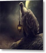 Lonely In The Moonlight Metal Print