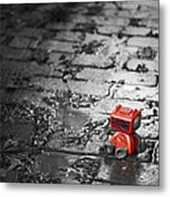 Lonely Little Robot Metal Print