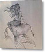 Lonely Mermaid Metal Print