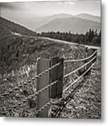 Lonely Mountain Road Metal Print