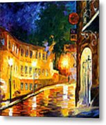Lonely Night - Palette Knife Oil Painting On Canvas By Leonid Afremov Metal Print