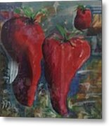 Lonely Peppers Metal Print