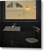 Lonely Bar Scene Metal Print