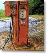 Lonely Pump Metal Print