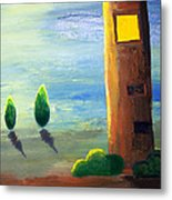 Lonely Tower Metal Print