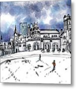 Lonely Winter Campus Metal Print