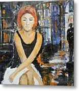 Lonely Woman Lonely Man Metal Print