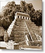 Long Ago In Mayan Palenque Metal Print