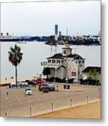 Long Beach Bay California / Tintbrush Effect Metal Print