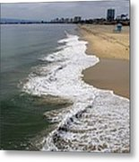 Long Beach California Shoreline Metal Print