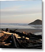 Long Beach Drift  B.c. Metal Print