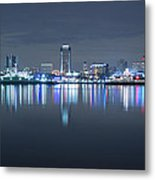 Long Beach Skyline Metal Print