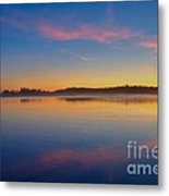 Long Beach Sunset Metal Print
