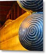 Long Buddha Statue Metal Print