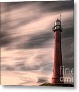 Long Exposure Lighthouse Metal Print