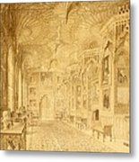 Long Gallery At Strawberry Hill Metal Print