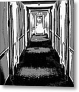Long Hallway Metal Print