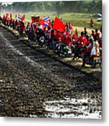 Long Journey Of The Red Rally Metal Print
