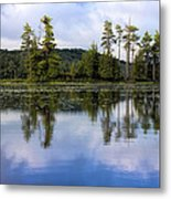 Long Lake Reflection Metal Print