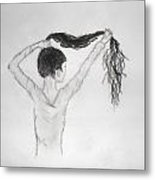 Long Locks Metal Print