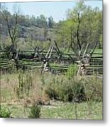 Long March To Round Top Metal Print