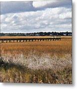 Long Marsh Dock Metal Print