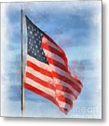 Long May She Wave Metal Print by Kerri Farley
