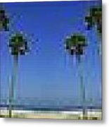 Long Mural Of The Beach Metal Print