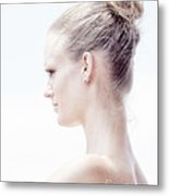Long Necked Beauty Metal Print