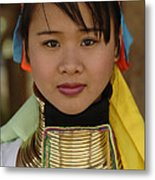 Long Necked Woman Of Thailand Metal Print