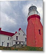 Long Point Lighthouse In Twillingate-nl Metal Print