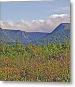 Long Range Mountains In Western Nl Metal Print