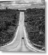 Long Road Ahead  8923bw  Metal Print