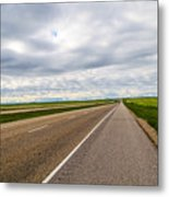 Road To The Sky In Saskatchewan. Metal Print