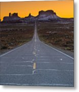 Long Road To Monument Valley Metal Print