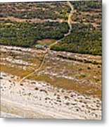 Long Road To The Coast Near Jekyll Island Metal Print