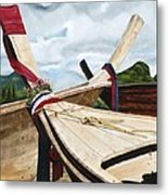 Long Tail Boats Of Krabi Metal Print