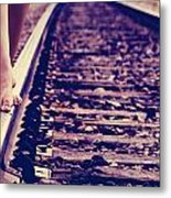 Long Tracks Metal Print