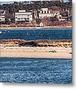 long view of Brant point lighthouse Metal Print