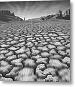 Long Walk On A Hot Day Metal Print by Mike McGlothlen