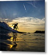 Longboarding Into The Sunset Metal Print
